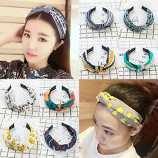 Ladies Twist Wide Headband Floral Women Bow Cross Knot Headwear Hair Band Hoop