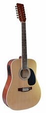 NEW MADERA 12 STRING ACOUSTIC ELECTRIC GUITAR - NATURAL COLOR - W-4122CE- NAT
