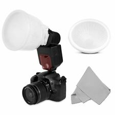 US Universal Cloud lambency flash diffuser+White dome cover and fits all flashes