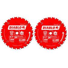 Freud D0724PX Diablo 7-1/4-Inch 24 Tooth ATB Carbide Framing Saw Blade (2 Pack)