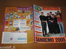 TV SORRISI E CANZONI=2005/9=PAOLO BONOLIS=IRENE FERRI=JASMINE TRINCA=BORGHETTI G