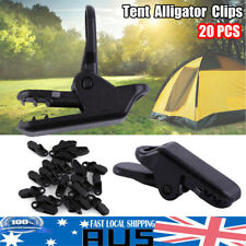 20pc Awning Tent Clamp Tarp Clips Canopy Snap Hangers Survival Camping AU Ship