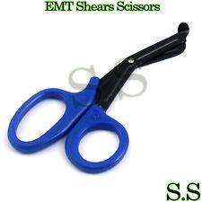 Tactical Black Blue Emt Shears Scissor Bandage Paramedic Ems Supplies 725