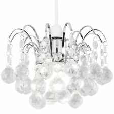 Modern Spiral Crystal Droplet Cascading Ceiling Light Pendant Lamp Chandelier UK