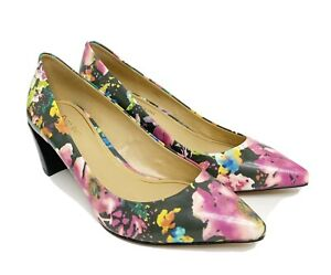 Enzo Angiolini Women's Jyssika Floral Leather Pointed Toe Pumps Sz 8 M NWOB