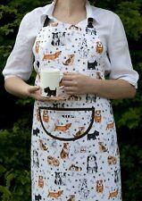 Roy Kirkham 100% Cotton Dog Lovers Chefs Adjustable Apron Funky Kitchen Gift