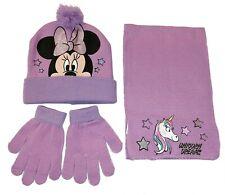 Minnie Mouse Unicorno Set 3pezzi Cappello,Sciarpa Guanti Invernale Bambina tg 52