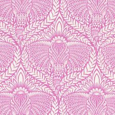 DEITY Elephant Retro Fabric FQ Tula Pink EDEN Indian SHERBET PINK Damask Style