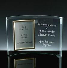 Personalised Engraved Glass 6x4 Photo Frame - In Loving Memory Remembrance