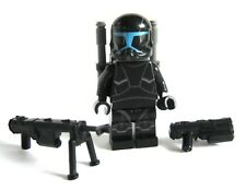 Lego CLONE COMMANDO Shadow Minifigure -W/ Pistol, Sniper -Custom Printed Body!