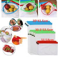 15 Pcs Reusable Mesh Produce Bags Grocery Fruit Vegetable Storage Shopping Eco