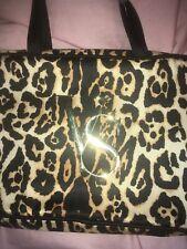 VICTORIAS SECRET Leopard Logo Hanging Travel Makeup Toiletry Bag Case