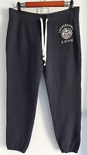 100% Authentic Abercrombie and Fitch Women's Sweater Pants Dark Blue Size M