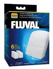 Fluval Fine Filter Pads 6 pack 304 305 306 404 405 406 Genuine Polishing Poly