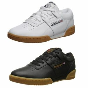 Reebok Men's Workout Low Classic Leather Tennis Shoes