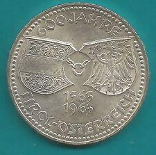50 Schilling-Silber-Münze-Österreich-600 J. Tirol-1363-1963--