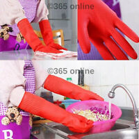 Long Sleeve Waterproof Household Kitchen Cleaning Washing Up Latex Rubber Gloves
