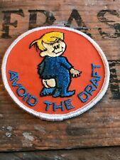 Vintage Hippy Peace Patch Anti-War Activist Avoid The Draft 1960's! Vietnam