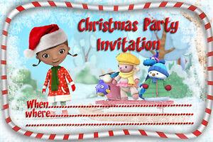 10  x Children CHRISTMAS Party Invitations Dora The Explorer Ice Age
