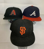 MLB Fitted Hat Lot Size  7 1/4 Lot Of 3 / Bundle Deal - EUC Arizona, San Fran ..