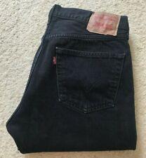 Mens Levis 501 XX black straight leg denim jeans W 36 L 33