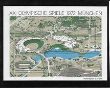 "Germany BRD 1972 Mi 723-726 Block 7 - ""Olympische Sommerspiele"" - MNH"