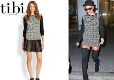 TIBI Leopard Knit Easy Sweatshirt Sweater Seen On Celebrity Size 6 NWT $245