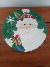 Fitz & Floyd Merry & Bright Santa Cookie Plate