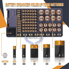 BATTERY ORGANIZER WITH ENERGY TESTER ® [PREMIUM QUALITY]