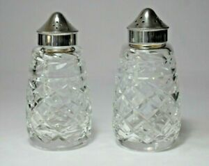 Vintage Salt and Pepper pots with EPNS tops and Hobnail glass.