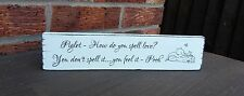 shabby vintage chic distressed pooh piglet quote how do you spell love plaque