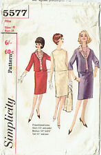 SIMPLICITY 5577 ~ VINTAGE 1964, VERY CHIC`, JACKET, SKIRT & TOP ~  **SIZE 18**