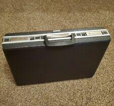 Vintage 50's FAIRCRAFT Hardcover pebbled black mid century Briefcase Attache