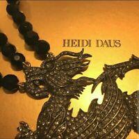 Gorgeous Heidi Daus Swarovski 3-Strand Crystal Dragon Necklace - Quality!