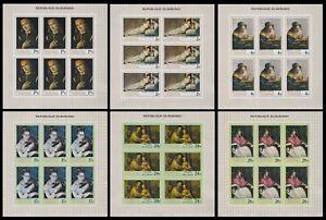Burundi 1968 Paintings Stamp set - MNH Imperforate Full Sheets.............A5605