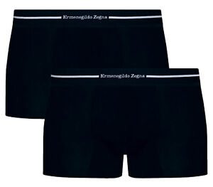 ERMENEGILDO ZEGNA Z20150 Luxury Pack Of 2 Designer Stretch Cotton Boxer Shorts