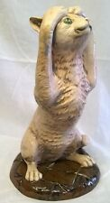 MOORCROFT COBRIDGE STONEWARE KERFUFFLE CAT FIGURE - ANIMAL FIGURINE OR MODEL