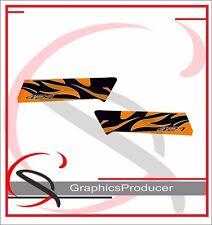 Yamaha Banshee Decals 2008 Orange 421Model Side FenderGraphics For OEM Fenders