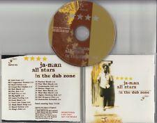 JA-MAN ALL STARS In The Dub Zone 2003 UK 23-track promo CD Blood & Fire