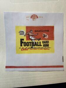 1963 Scanlen's Football VFL Cards Gum Wax Wrapper Print