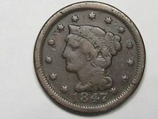 1847 US Braided Hair Large Cent.  #24