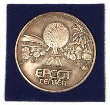 1982 Walt Disney World EPCOT CENTER  Metal Coin in Original Display Case