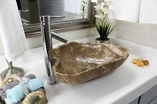 Modern Natural Stone Bathroom Vessel Sink - Rustic Onyx Stone