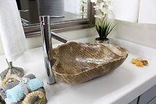 Modern Natural Stone Bathroom Vessel Sink - Rustic Onyx Stone