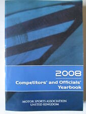 Motor sports Association competitors  yearbook 2008 Motor sport memorabilia.