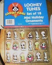 1998 Mini Looney Tunes 18 Ornaments Tweety Bird Buggs Bunney Warner Brothers