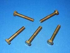 5 Stück Sechskantschrauben Messing MS Schrauben M8x50 8x50 DIN931 M 8 x 50 Bund