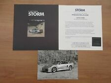 Lister Storm Press Release Circa 1992 Including Brochure Photo and Slide