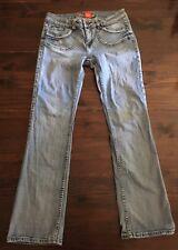 Request Jeans light wash Women's 34 bootcut denim w/ flap pockets