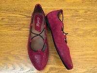 EARTHIES ESSEN LEATHER BALLET FLAT SHOES NWOB SIZE 7